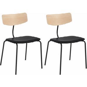 ANDAS Stühle mit Leder oder Stoffbezug schwarz, Leder CAMEO, »Factory«