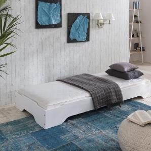 SYLT Stapelbett 90 oder 100x200 Kiefer massiv weiß