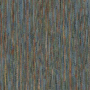 Landhaus Möbelstoff Garmisch Farbe 35 (blau, hellblau) - modernes Chenille-Flachgewebe (gemustert, gestreift, Fleckerlteppich-Optik) Polsterstoff, Stoff, Bezugsstoff, Eckbank, Couch, Sessel, Hussen, Kissen