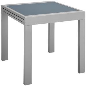 Gartentisch »Lima«, Aluminium, ausziehbar, 130x65 cm, silber