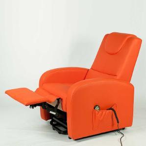 TV-Sessel in Orange Motor und Aufstehhilfe