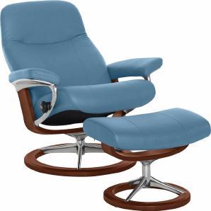Stressless® Set: Relaxsessel mit Hocker »Garda« mit Signature Base, Größe L, mit Schlaffunktion