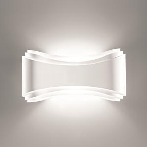 EEK A+, Wandleuchte Ionica - Metall - Weiß - 1-flammig - 30 cm breit, Loistaa