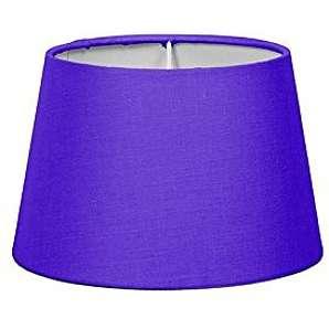 QAZQA Klassisch / Antik / Landhaus / Vintage / Rustikal / Modern / Polyester Lampenschirm 18cm rund violett , Rund konisch Schirm Stehleuchte