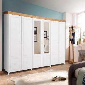 Home affaire Drehtürenschrank weiß, 6-türig: 282 cm, », als 2-, 3-, 4-, 5- oder 6-türig, teilweise mit Spiegel«, FSC®-zertifiziert
