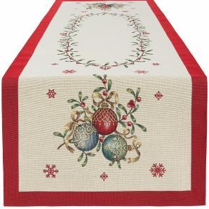 Gobelin Tischläufer, in zwei Größen, »Weihnachtskugel«