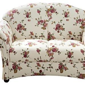 Max Winzer 6100-2100-2043502 2-Sitzer Sofa Charlotte, Flachgewebe, florales Muster