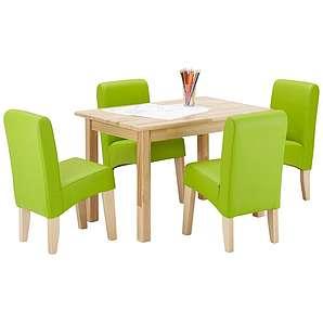 Kindersitzgruppe in Grün und Buche