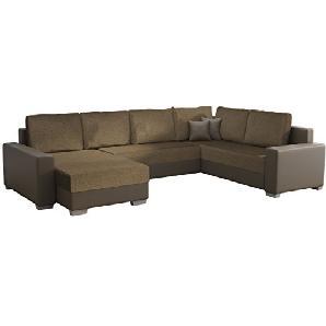 Ecksofa Olga SALE!, Elegante BIG Couch, Design U-Form Eckcouch, Ecksofa, Farbauswahl, Wohnlandschaft (Ecksofa Links, Soft 024 + Lux 03)
