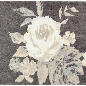 Fußmatte Brooklyn Rose - Kunstfaser - Grau / Creme - 66 x 110 cm, Schöner Wohnen Kollektion