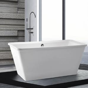 Freistehende Badewanne - Acryl - rechteckig - ARUBA