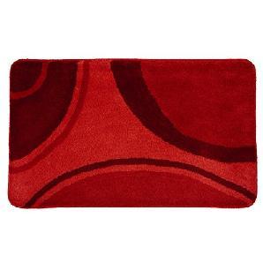 Kleine Wolke 7257453360 Badteppich Verona, 60 x 100 cm, rubin