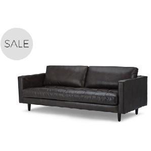 Scott 3-Sitzer Sofa, Vintage-Premium-Leder in Braun