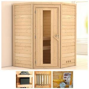 KONIFERA Sauna »Franka«, 144/144/200 cm, ohne Ofen, Holztür