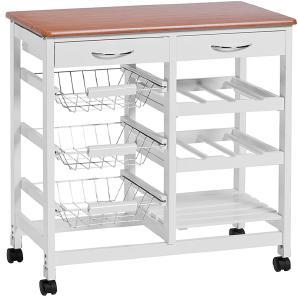 Küchenwagen Arik II - Weiß/Bambus Dekor, Zeller