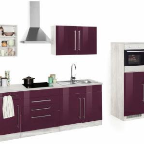 HELD MÖBEL Küchenzeile mit E-Geräten »Samos«, Breite 350 cm