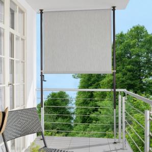 Balkonsichtschutz, B: 120 cm, granitgrau