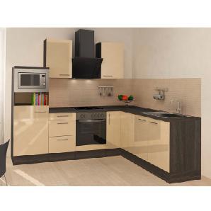 Respekta Premium Winkelküche RP260EVACMIS 260 cm Vanille-Eiche Grau Nachbildung