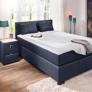 Home affaire Boxspringbett blau, Liegefläche 180/200 cm, Bonellfederkern-Matratze, »Jenny«, Härtegrad 2