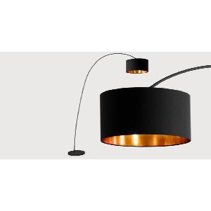 Sweep Stehlampe, Mattschwarz und Kupfer