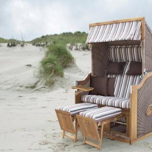 Strandkorb »deVries PURE® Greenline 170XL PE«, Design 628 walnuss