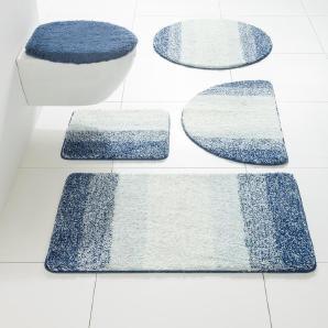 Badgarnitur, blau, Gr. ca. 90/160 cm,  home