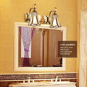L&R LED-Spiegel Scheinwerfer Badezimmer Retro American Badezimmer Spiegel Kabinett Lichter Kreative Toilette Make-up Beleuchtung , two heads