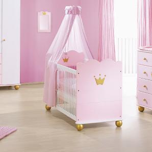 Kinderbett Mädchen Prinzessin Karolin - rosa - 70x140 cm