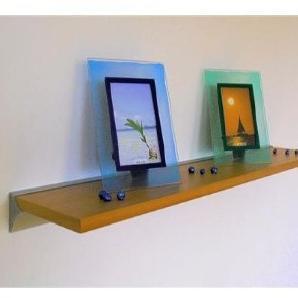 Wand Regal Pure 100x20 echt Holz furniert buche + Alu Wandschiene Wandboard