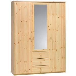 CARRYHOME: Kleiderschrank, Holz,Kiefer, Kiefer, B/H/T 145 200 62