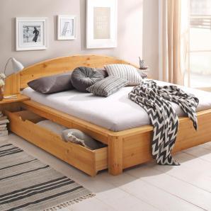 Home affaire Bett gelb, Liegefläche 180/200 cm, honigfarben, »Acros«, FSC®-zertifiziert