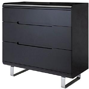Kommode Spacy hochglanz schwarz Sideboard Schubladen Schrank Highboard