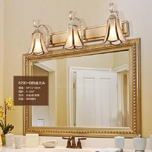 L&R LED-Spiegel Scheinwerfer Badezimmer Retro American Badezimmer Spiegel Kabinett Lichter Kreative Toilette Make-up Beleuchtung , Three heads