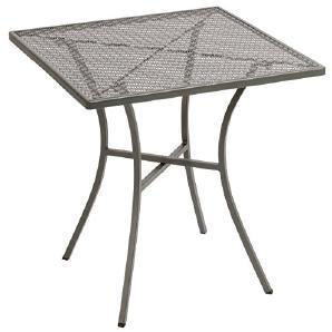 Bolero gg704Bistro Tisch, Stahl, rund, gemustert, grau