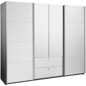 Ti`me: Kleiderschrank, Holzwerkstoff, Grau, Weiß, B/H/T 226 210 62