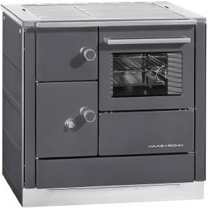 HAAS+SOHN Festbrennstoffherd »DH 85.5«, Stahl, 7,5 kW, Backofen& Herdplatte