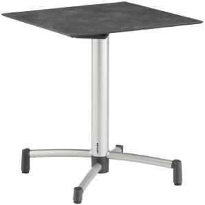 KETTLER HKS: Tisch, Anthrazit, Silber, B/H/T 68 74 68