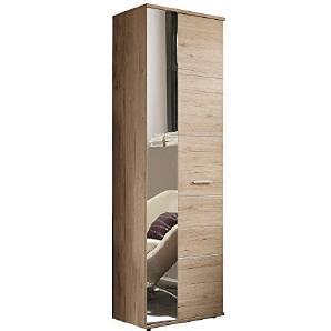 AVANTI TRENDSTORE - Garderobenschrank aus San Remo Eiche hell Dekor, ca. 64x198x36cm
