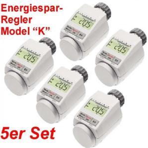 SET 5 x Heizkörper Thermostat Heizregler Thermostatventil Heizkörperregler Neu mit Boostfunktion und inklusive Batterien