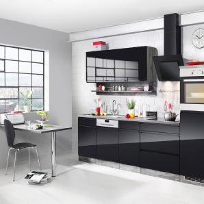 HELD MÖBEL Komplett-Set: Küchenzeile mit E-Geräten »Virginia«, Breite 300 cm