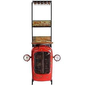 Design Barschrank im Loft Style Rot Pharao24