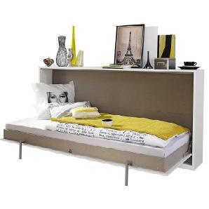 CARRYHOME: Bett, Weiß, B/H/T 212 105 36