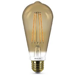 Philips Leuchtmittel LED Classic Lampe E27 7 W, Flame, dimmbar, klar