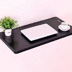 ERRU- Wandtisch Schreibtisch Faltende Studenten Computer-Schreibtisch Wand-Massivholz-Küche-Speisetisch (Farbe: Schwarzes, Größe wahlweise freigestellt) ( größe : 70*30cm )