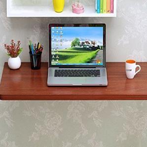 ERRU- Wandtisch Schreibtisch Faltende Studenten Computer Schreibtisch Wand-Massivholz Küche Esstisch(Farbe: Teakholzfarbe, Größe wahlweise freigestellt) ( größe : 90*30cm )