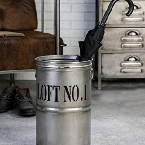 Schirmständer Loft Metall 46cm anthrazit mit Schriftzug Loft No. 1