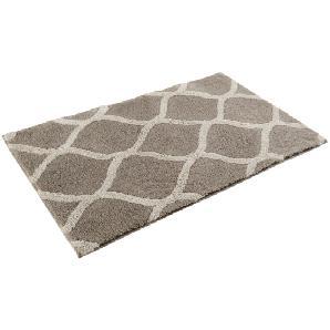 Badteppich Oriental Tile - Kunstfaser - Grau / Beige - 70 x 120 cm, Esprit Home