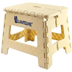 Lantelme 6774 Klapphocker in beige - Universal Hocker aus Kunststoff - Klappbar als Kinderhocker - Tritthocker oder auch als Sitzhocker
