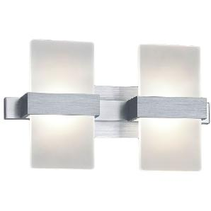 EEK A+, LED-Wandleuchte Platon - Acrylglas / Aluminium - 2, Trio