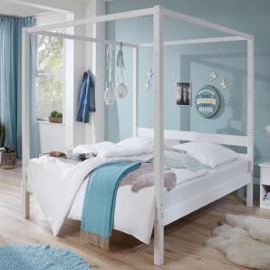 Himmelbett in diversen Breiten »Louisa« weiß, Liegefläche 180x200 cm, FSC®-zertifiziert, Relita